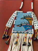 LAKOTA BEADED DEERSKIN BAG